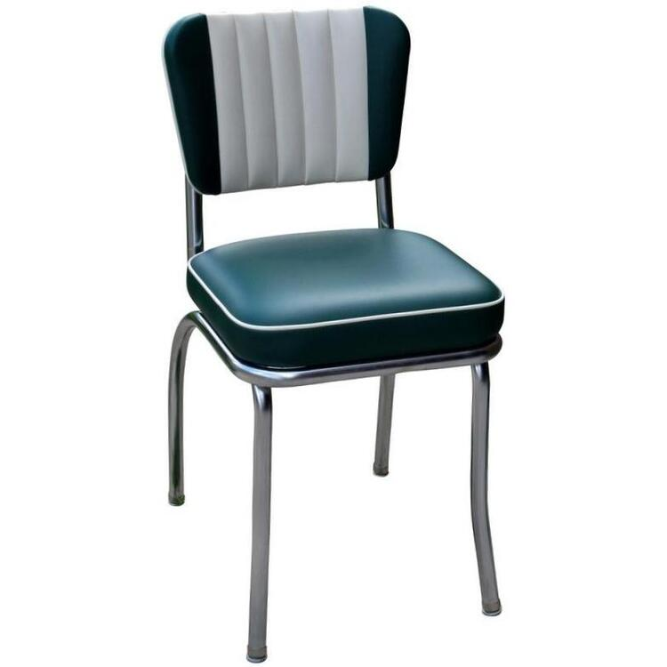 Richardson Seating Dual Tone Channel Back Diner Chair with 2
