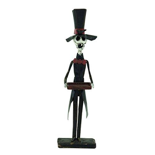 Quirky Wood Skeleton Butler