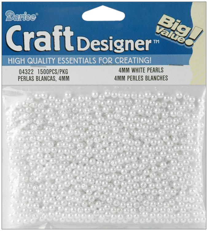 Pearls 4mm 1,500/Pkg-White