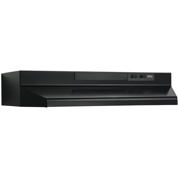 Broan 36 In. 220 CFM Black Under Cabinet Vent Hood