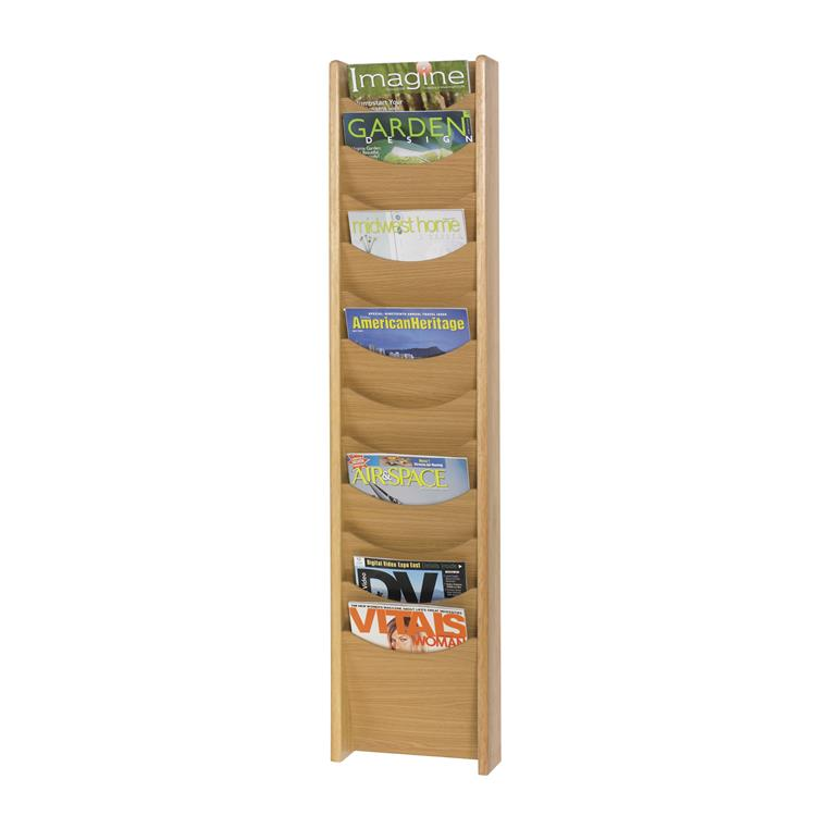 Wood Magazine Rack, 12 Pocket
