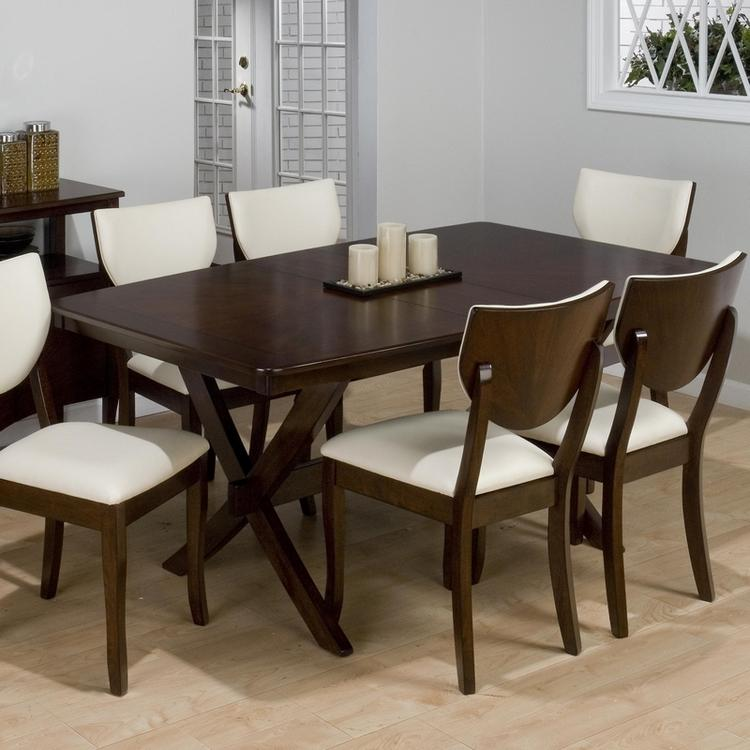 Stain Dining Table with Trestle Base