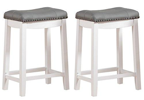 Angel Line Cambridge Padded Saddle Stool - Set of 2