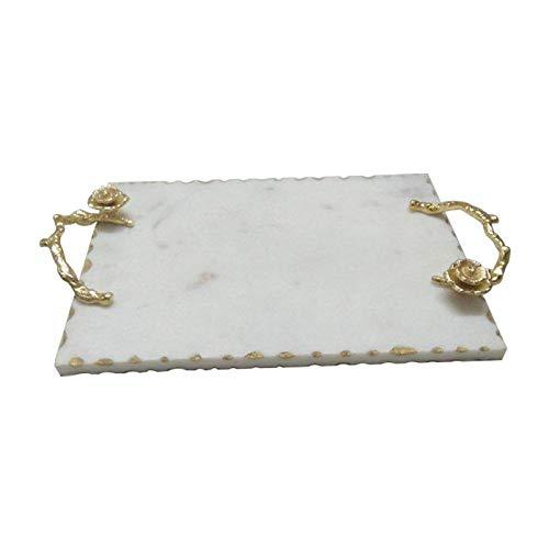 A&B Home Event Modern Marble Tray