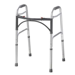 Folding 2-button walker, junior, no wheels, case of 4 [Item # 43-2102-4]
