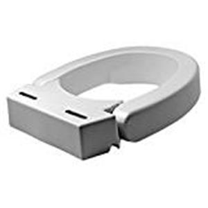 Elevated toilet seat , hinged
