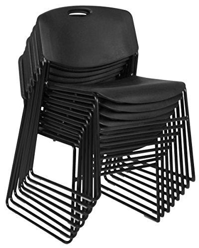 Zeng Stack Chair (8 pack)- Black