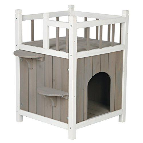 TRIXIE Pet Products Wooden Pet Home with Balcony
