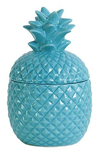 UTC44203 Ceramic 20 oz. Pineapple Canister SM Gloss Finish Blue