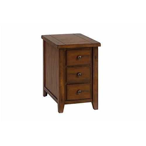Clay County Oak Chairside Table