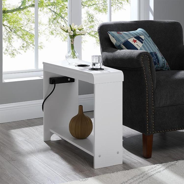 Naomi Home Jade Chairside Table with USB Ports & Outlets