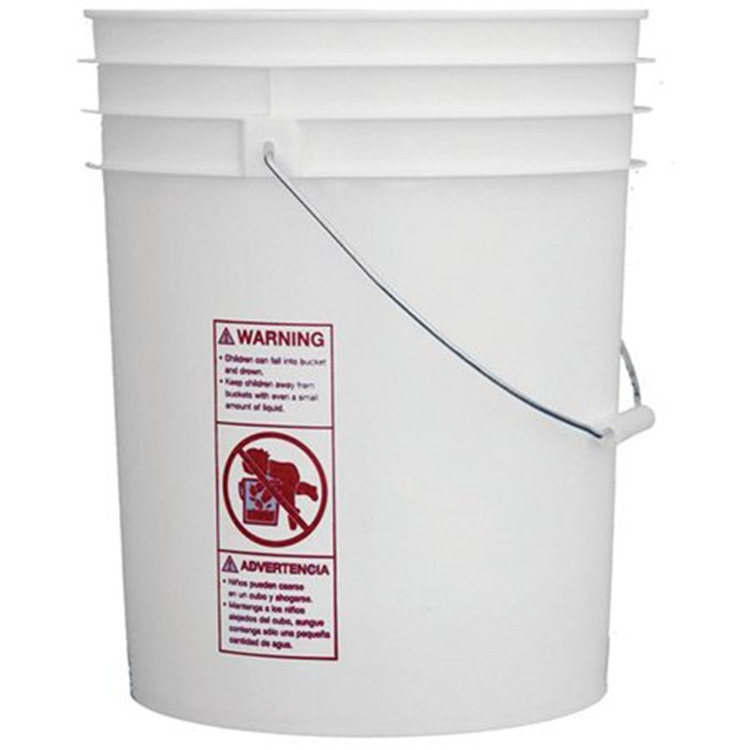5 Gallon White Pail w/Handle