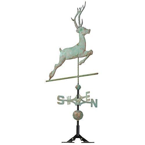 Copper Deer Weathervane - Verdigris
