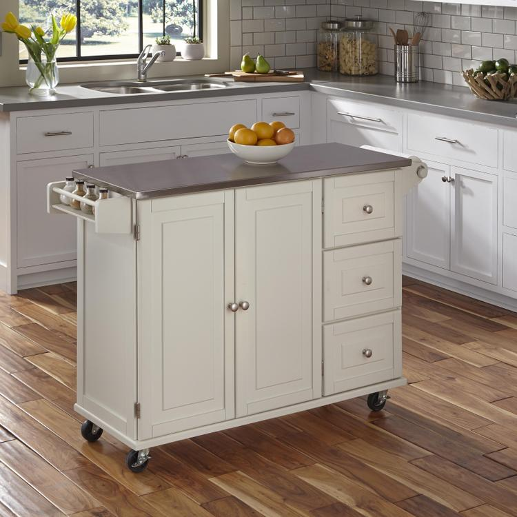 Home Styles Liberty Kitchen Cart With Ss Top