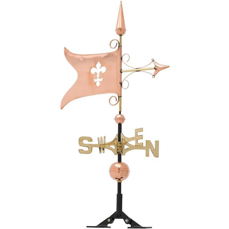 Copper Banner Weathervane - Polished