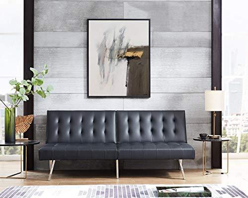 Naomi Home Tufted Split Back Futon Sofa [Item # 45311A]