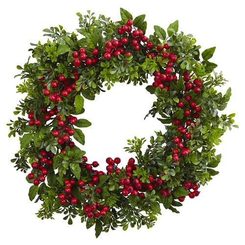 24? Berry Boxwood Wreath