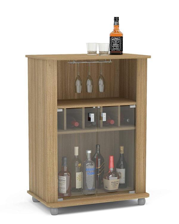 Boahaus Modern Mini Bar 2 door, 4 claster & Wine Rack
