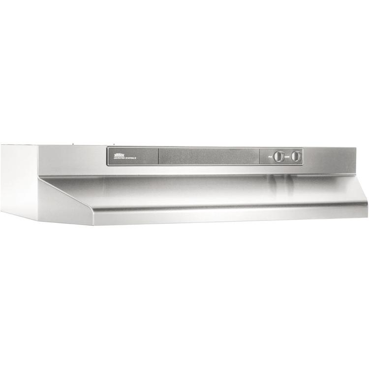 Broan 36 In. 4-Way Convertable Range Hood - Stainless Steel