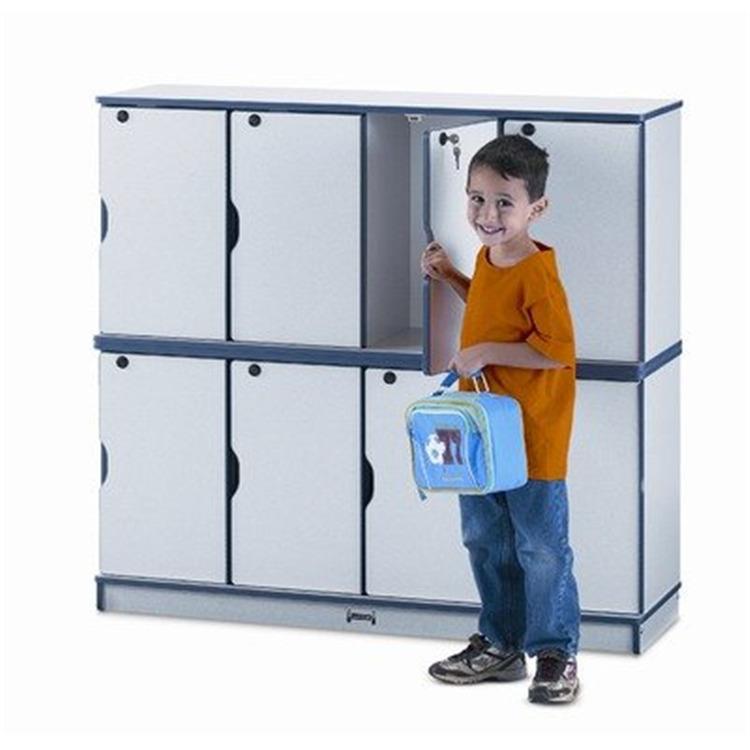 Jonti-Craft Stacking Lockable Lockers - Triple Stack - Black
