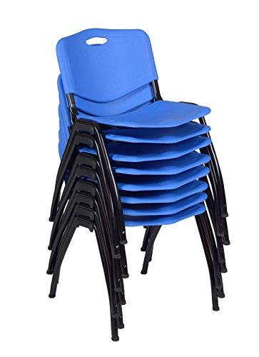 'M' Stack Chair (8 pack)- Blue