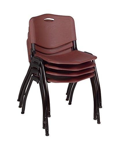 'M' Stack Chair (4 pack)- Burgundy