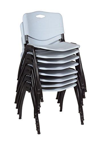 'M' Stack Chair (8 pack)- Grey