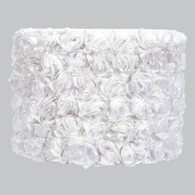 Large Shade - Drum - Solid Rose Garden - White