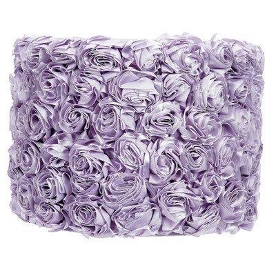 Large Shade - Drum - Solid Rose Garden - Lavender