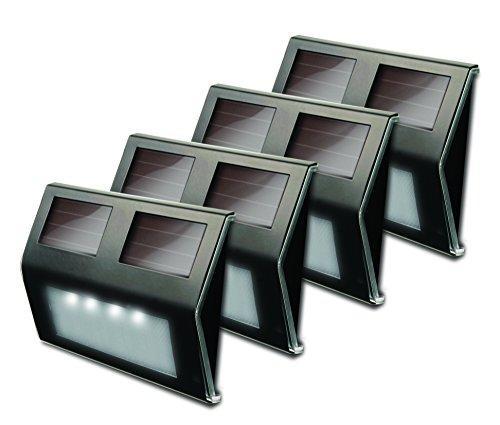 Metal Solar Deck Light - Bronze - Pack Of 4