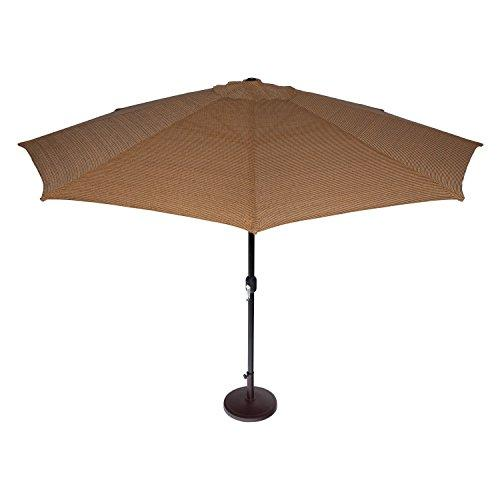 Coolaroo Market Umbrella Round 11-Feet Mocha