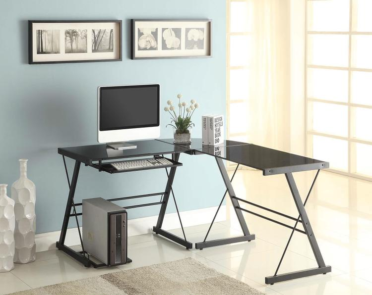 Naomi Home 3 Piece Sedalia Glass Office Desk