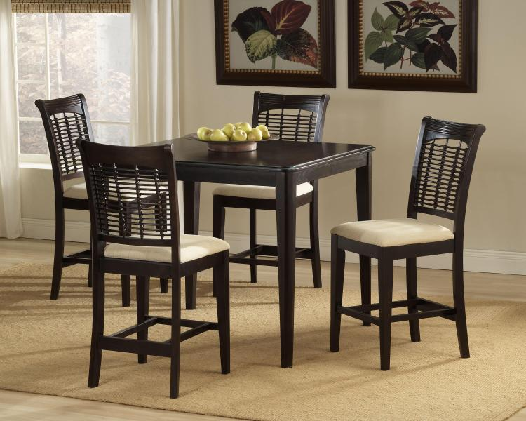 Bayberry 5-Piece Counter Height Dining Set - Dark Cherry