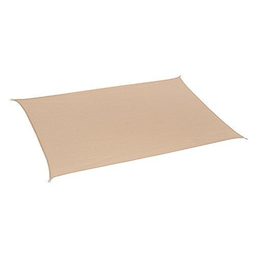 California Sun Shade Shade Sail Rectangle 10ft x 8ft Desert Sand