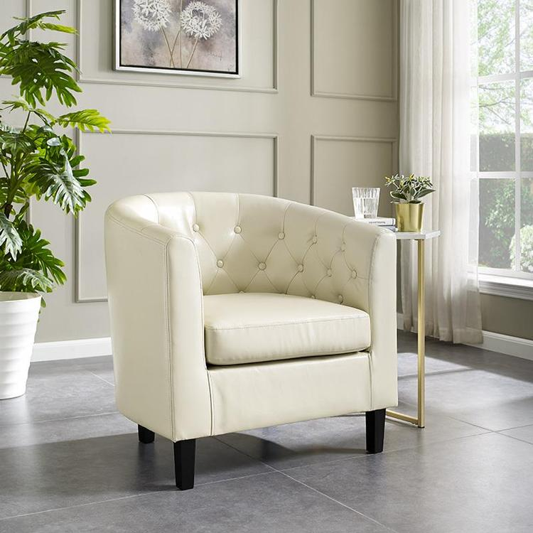 Naomi Home Emma Button Tufting Accent Arm Chair [Item # 48714]