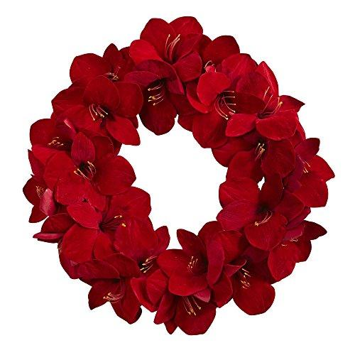 Nearly Natural 22? Amaryllis Wreath