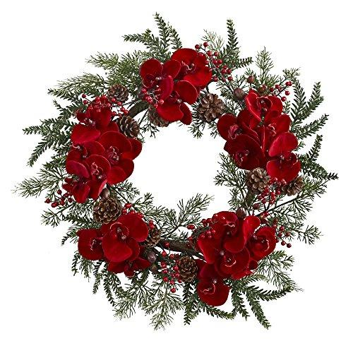 22?  Orchid,  Berry & Pine Holiday Wreath