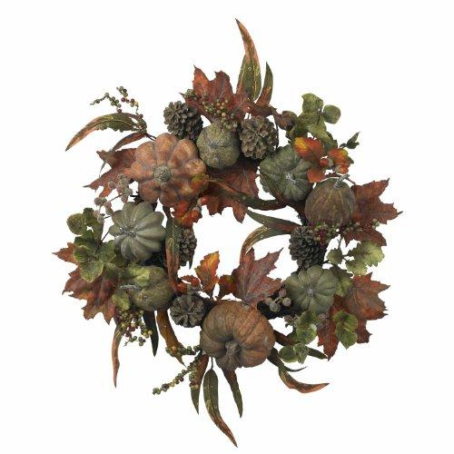 Nearly Natural 24? Pumpkin & Gourd Wreath
