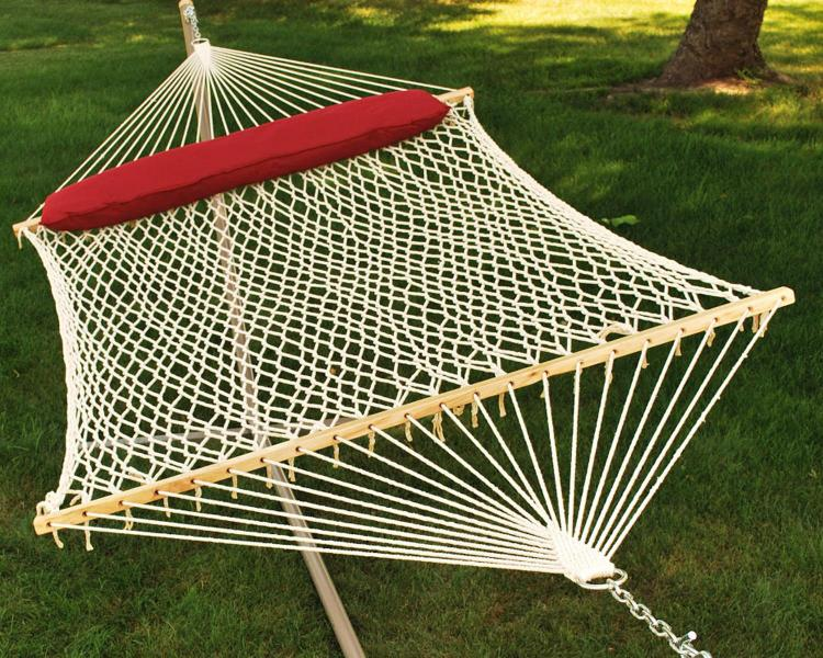 Cotton Rope Hammock With Hanging Hardware And Pillow