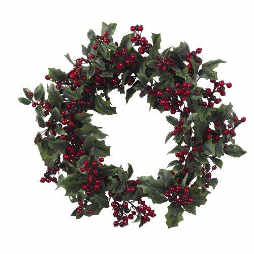 Nearly Natural 24? Holly Berry Wreath