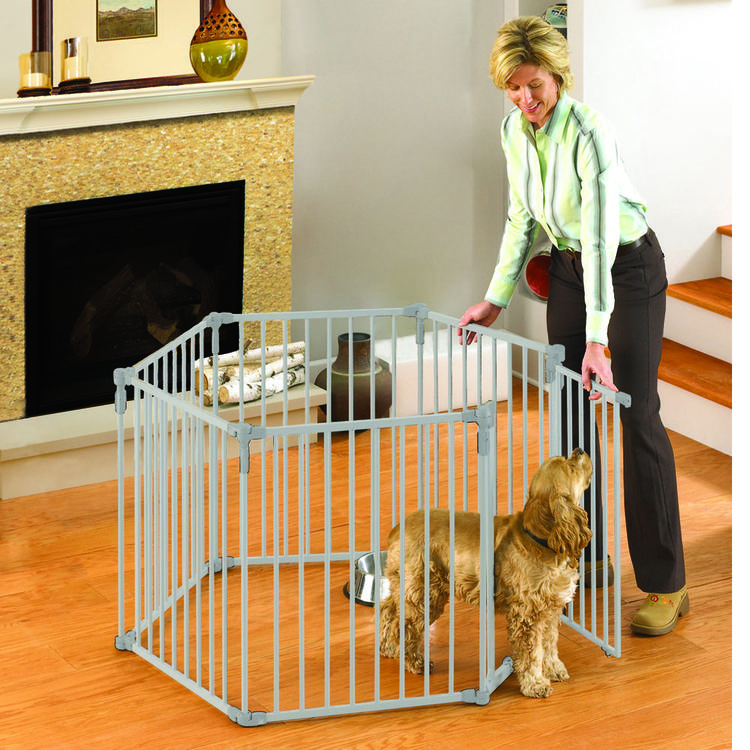 3-In-1 Metal Superyard Pet Pen 6 Panels