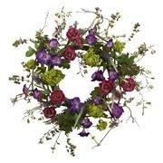 Nearly Natural 20? Veranda Garden Wreath