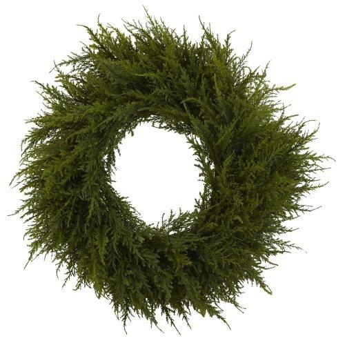 Nearly Natural 24? Cedar Wreath