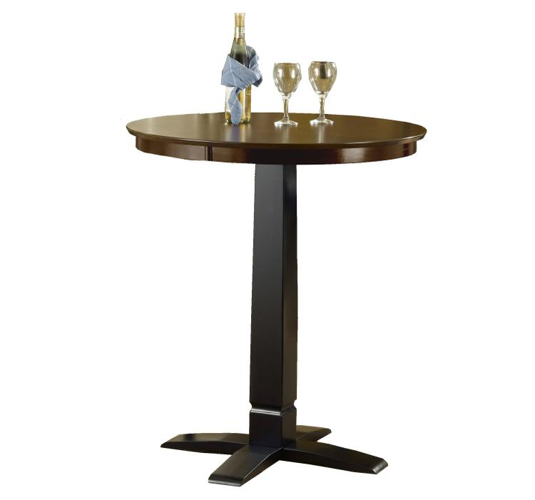 Dynamic Designs Pub Table - Black/Brown Cherry