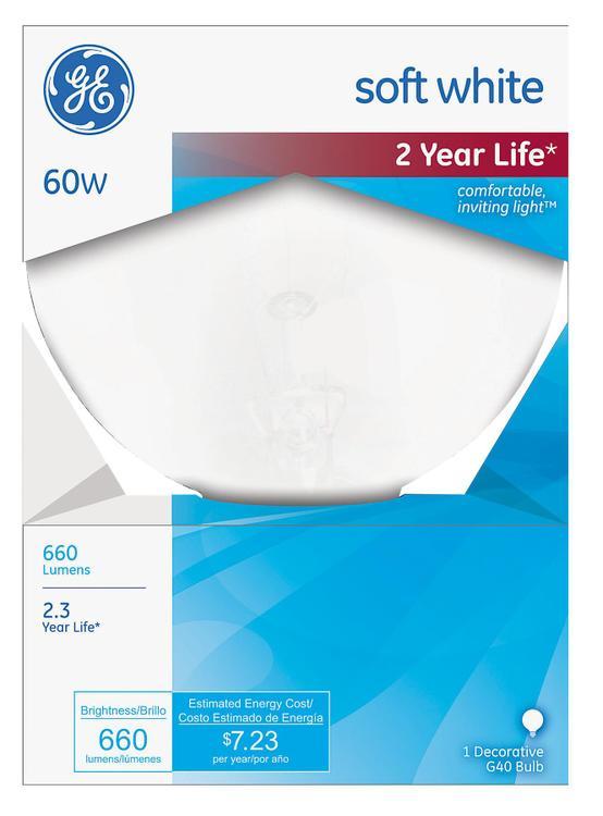 GE Lighting Decorative G40 Globe Bulb 60 W - 49780