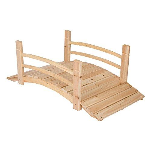 4 Ft. Cedar Garden Bridge - Natural