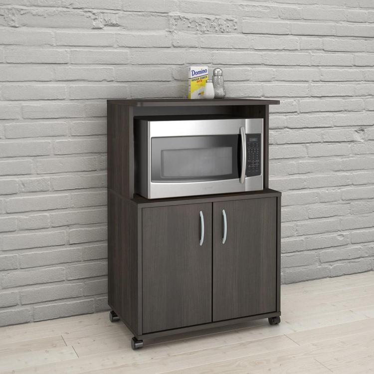 Nexera 499 2-Door Mobile Microwave Cart, Ebony
