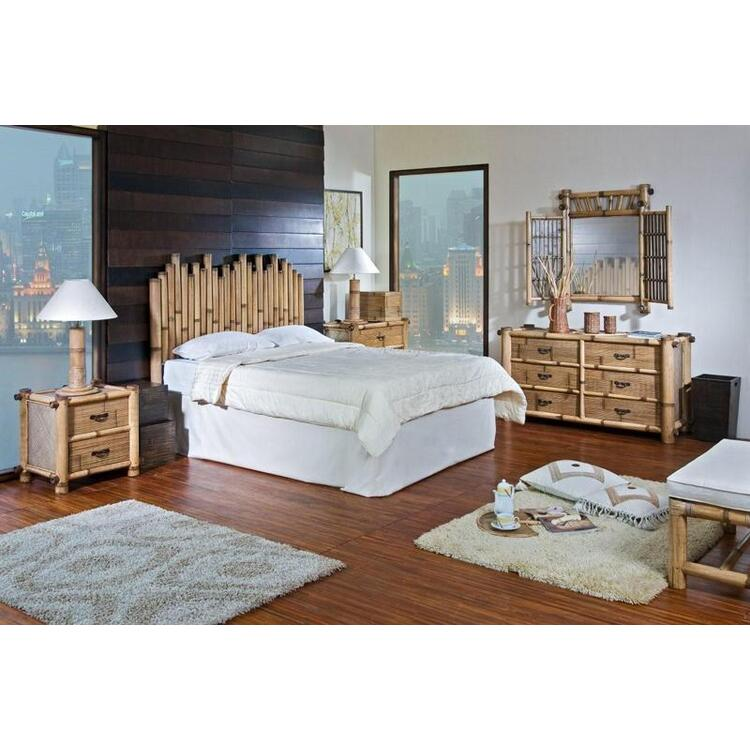 Havana Bamboo Bedroom Set, Size Queen