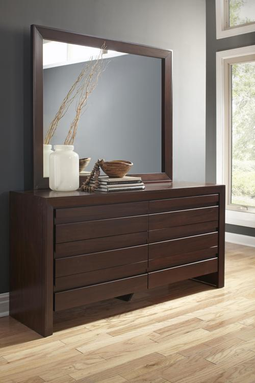 Element Mirror in Chocolate Brown