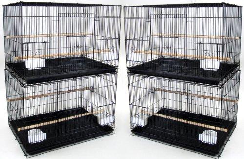 Lot of 4 Medium Breeding Cages, Black